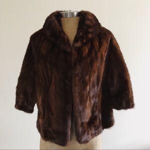 Vintage 1960s Mink Fur Capelet authentic